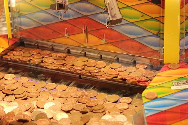 Coin drop machine