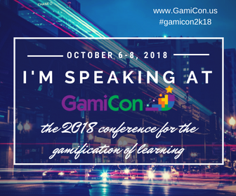 I'm speaking at GamiCon 2018